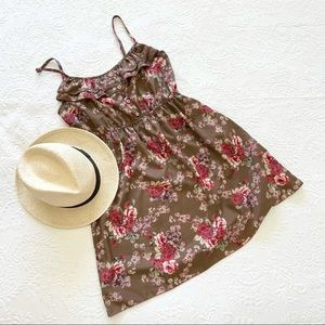 Mine Floral Button Front Sleeveless Sundress